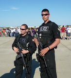 Security at the Air Show Stock Photos