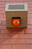Security alarm. Box on the outside building's wall Royalty Free Stock Photography