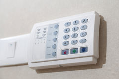 Security alarm keypad Stock Photography