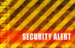 Security Alert. Warning Message as a Background Stock Photography