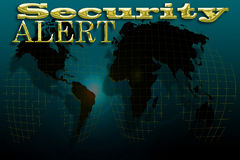 Security Alert map Stock Photography