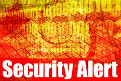 Security Alert Warning Message. On abstract technology background royalty free illustration