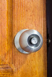 The security aluminum door knob. The aluminum door knob Royalty Free Stock Images