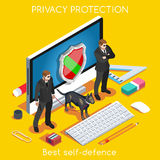 Security App 02 Concept Isometric Royalty Free Stock Photography