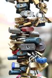 Security background from locks Stock Photography