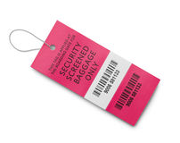 Security Baggage Tag Royalty Free Stock Photography