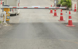 Security barrier. Royalty Free Stock Photo