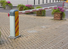 Security barrier for parking vehicles Stock Photography