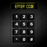 Security black numeric pad Stock Photography