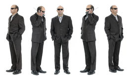 Security. Bodyguard and security agent staff Stock Image