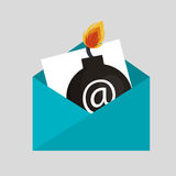 Security bomb email envelope icon Stock Images