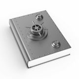 Security book on white background. Isolated 3D illustration.  Royalty Free Stock Image