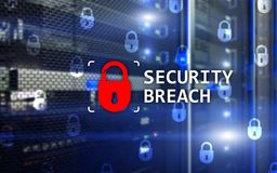 Security breach detection, Cyber protection. Information privacy. Security breach detection, Cyber protection. Information privacy Stock Photography