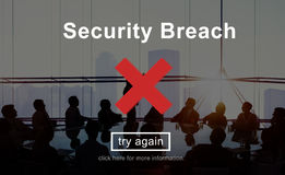 Security Breach Risk Dangerous Hacking Concept Stock Photo