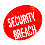 Security Breach rubber stamp. Grunge design with dust scratches. Effects can be easily removed for a clean, crisp look. Color is easily changed Stock Photo