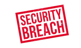 Security Breach rubber stamp. Grunge design with dust scratches. Effects can be easily removed for a clean, crisp look. Color is easily changed Royalty Free Stock Photo