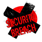 Security Breach rubber stamp. Grunge design with dust scratches. Effects can be easily removed for a clean, crisp look. Color is easily changed Stock Images