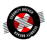 Security Breach rubber stamp. Grunge design with dust scratches. Effects can be easily removed for a clean, crisp look. Color is easily changed Stock Image