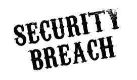 Security Breach rubber stamp. Grunge design with dust scratches. Effects can be easily removed for a clean, crisp look. Color is easily changed Royalty Free Stock Photography