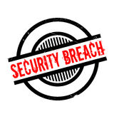 Security Breach rubber stamp. Grunge design with dust scratches. Effects can be easily removed for a clean, crisp look. Color is easily changed Royalty Free Stock Photos