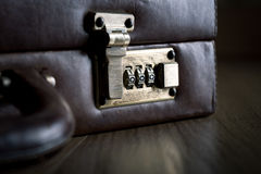 Security briefcase with lock Stock Image