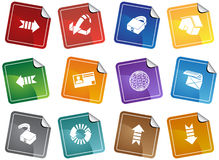 Security Browser Sticker Set Stock Photos