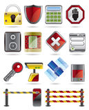 Security and Business icons Stock Photography