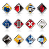 Security and Business icons Stock Photos