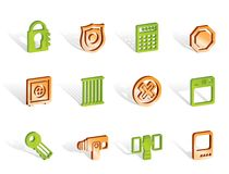 Security and Business icons Stock Images