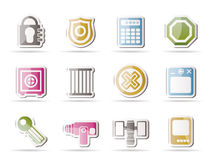Security and Business icons Royalty Free Stock Images