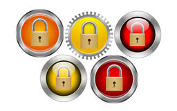 Security button stock illustration