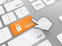 Security button Royalty Free Stock Images