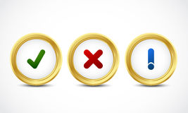 Security button set Stock Images