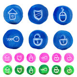 Security buttons Stock Image