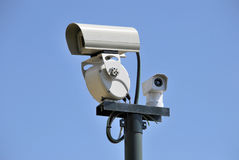 Security cam. Over the sky. security Concept stock photos