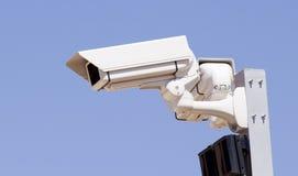 Security cam. A security cam over blue sky Stock Photo