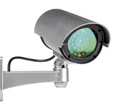 Security cam. Era wall mounted on white background Royalty Free Stock Images