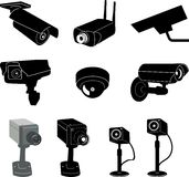 Security camera 1 (+ vector) Royalty Free Stock Photos