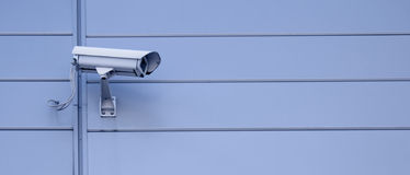 Security camera. Lots of copyspace Royalty Free Stock Photo