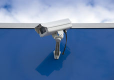Security camera. Used for surveillance at a convenience store Stock Photo