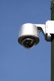 Security camera. Photograph of a security camera on a  factory Stock Photo