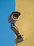 Security camera. Surveillance camera square in front of office building Stock Photo
