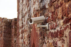 Security camera. At the house wall Royalty Free Stock Photography
