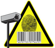 Security camera. Big brother is watching you, surveillance against protection of privacy Royalty Free Stock Images