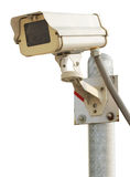 Security camera. CCTV security camera on white background Stock Photos