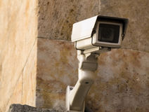 Security camera. Surveillance camera always on alert royalty free stock photo