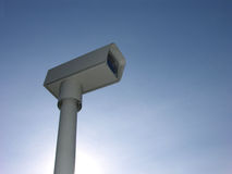 Security Camera. Surveillance Camera And Text Area royalty free stock photos