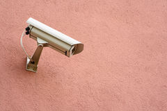 Security camera. A photo of a security camera on the wall Royalty Free Stock Photos
