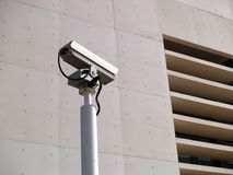 Security camera. And white building Stock Image