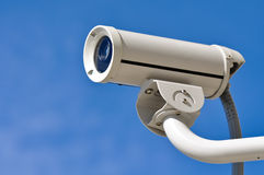 Security Camera against Blue Sky Royalty Free Stock Image